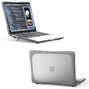 """MacBook Pro 13"""" (2020) Solidt Plastik Cover m. Stander - Grå"""