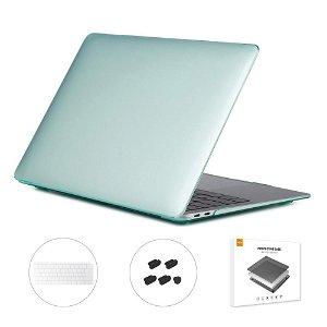 MacBook Air 13 (2018-2020) ENKAY Hard Case m. Keyboard Beskyttelse - Grøn