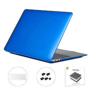 MacBook Air 13 (2018-2020) ENKAY Hard Case m. Keyboard Beskyttelse - Blå