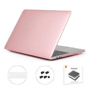 MacBook Air 13 (2018-2020) ENKAY Hard Case m. Keyboard Beskyttelse - Lyserød