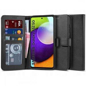 Samsung Galaxy A52s (5G) / A52 (4G / 5G) Tech-Protect Wallet 2 Læder Flip Cover - Sort