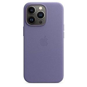 Original Apple iPhone 13 Pro Læder MagSafe Bagside Cover Blåregn (MM1F3ZM/A)