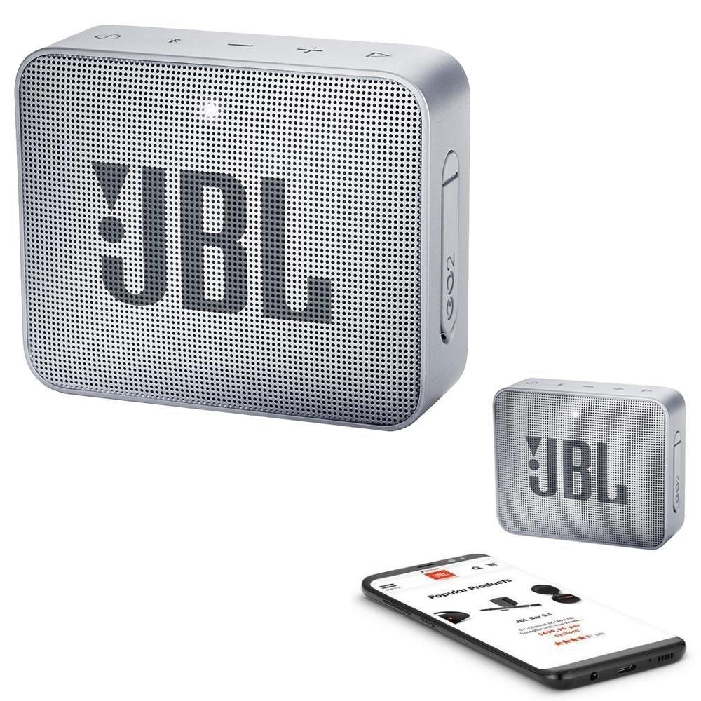 JBL GO 2 Bluetooth Waterproof Trådløs Vandtæt Højttaler – Sølv