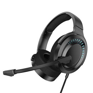 Baseus GAMO 3D Gaming Headset Til Computer m. RGB - Sort