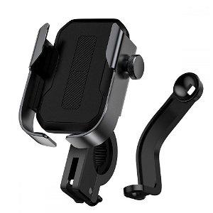 Baseus Armor Mobilholder Til Cykel & Motorcykel - Sort (Maks Bredde. 7 cm)