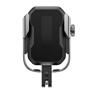 Baseus Armor Mobilholder Til Cykel & Motorcykel - Sølv (Maks Bredde. 7 cm)