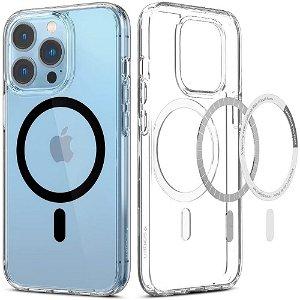 Spigen iPhone 13 Pro Ultra Hybrid Bagside Cover - MagSafe Kompatibel - Gennemsigtig / Sort