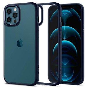 iPhone 12 / 12 Pro Spigen Ultra Hybrid Cover - Gennemsigtig / Blå
