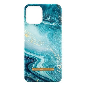iPhone 13 Pro GEAR ONSALA Fashion Collection Cover - Magnetisk - Blue Sea Marble