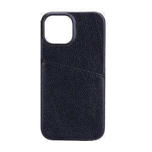 GEAR iPhone 13 Mini Onsala Collection Læder Bagside Cover m. Kortlomme - Sort