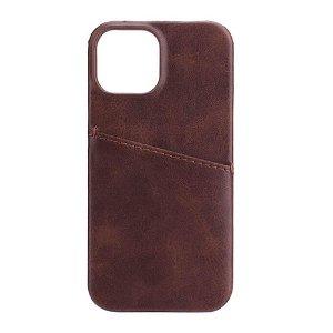 GEAR iPhone 13 Mini Onsala Collection Læder Bagside Cover m. Kortlomme - Brun