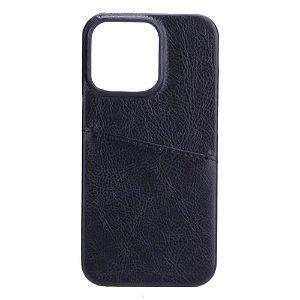 GEAR iPhone 13 Pro Onsala Collection Læder Bagside Cover m. Kortlomme - Sort
