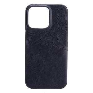 GEAR iPhone 13 Pro Max Onsala Collection Læder Bagside Cover m. Kortlomme - Sort