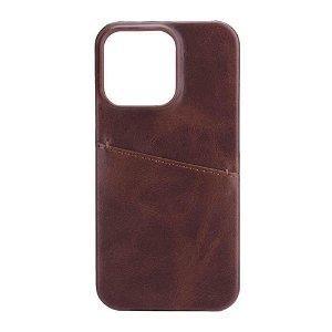 GEAR  iPhone 13 Pro Onsala Collection Læder Bagside Cover m. Kortlomme - Brun