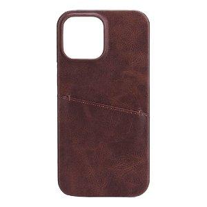GEAR iPhone 13 Pro Max Onsala Collection Læder Bagside Cover m. Kortlomme - Brun