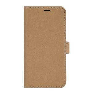 iPhone 13 GEAR Onsala Eco Flip Cover med Pung - Nedbrydeligt - Sand