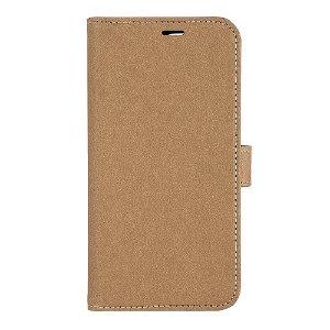 iPhone 13 Pro GEAR Onsala Eco Flip Cover med Pung - Nedbrydeligt - Sand