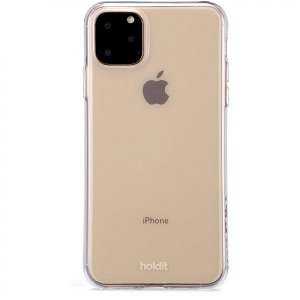 Holdit iPhone 11 Pro Max Soft Touch Cover - Gennemsigtigt