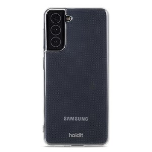 Holdit Samsung Galaxy S21+ (Plus) Soft Touch Bagside Cover - Gennemsigtig