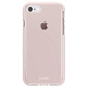 Holdit iPhone SE (2020) / 8 / 7 Seethru Bagside Cover - Blush Pink