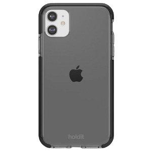 Holdit iPhone 11 Seethru Bagside Cover - Sort