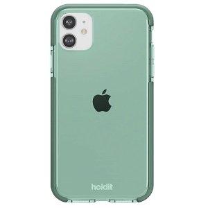 Holdit iPhone 11 Seethru Bagside Cover - Moss Green