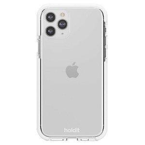 Holdit iPhone 11 Pro Seethru Bagside Cover - Hvid