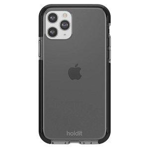 Holdit iPhone 11 Pro Seethru Bagside Cover - Sort