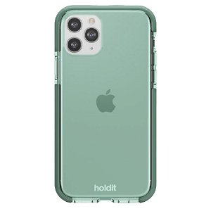 Holdit iPhone 11 Pro Seethru Bagside Cover - Moss Green