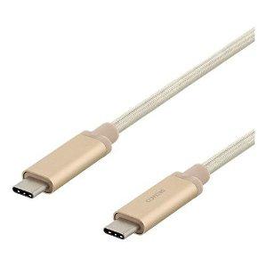 Deltaco PD (3A/60W) - 3.1 Gen.2 - USB-C til USB-C Kabel 1m - Guld