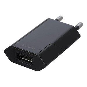 Deltaco 5V/1A 5W Vægoplader m. USB-A - Sort