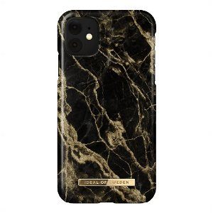 iDeal Of Sweden iPhone 11 Fashion Case - Golden Smoke Marble
