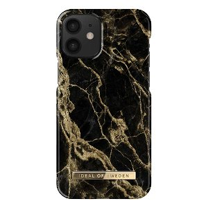 iDeal Of Sweden iPhone 12 Mini Fashion Case - Golden Smoke Marble