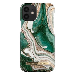 iDeal Of Sweden iPhone 12 Mini Fashion Case - Golden Jade Marble