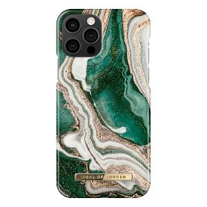 iDeal Of Sweden iPhone 12 Pro / 12 Fashion Case - Golden Jade Marble