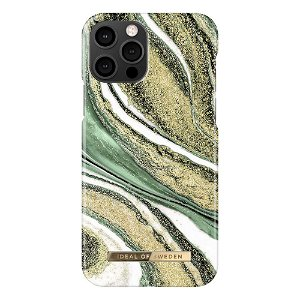 iDeal Of Sweden iPhone 12 Pro / 12 Fashion Case - Cosmic Green Swirl