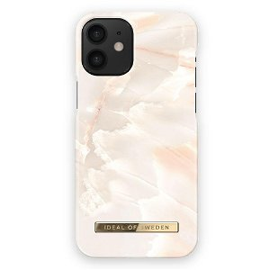iDeal Of Sweden iPhone 12 Mini Fashion Bagside Case Rose Pearl Marble