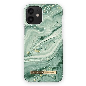 iDeal Of Sweden iPhone 12 Mini Fashion Bagside Case Mint Swirl Marble