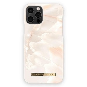 iDeal Of Sweden iPhone 12 / 12 Pro Fashion Bagside Case Rose Pearl Marble