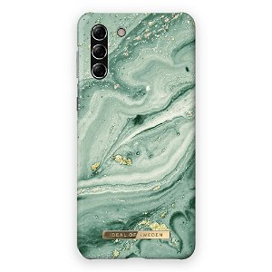 iDeal Of Sweden Samsung Galaxy S21 Fashion Bagside Case Mint Swirl Marble