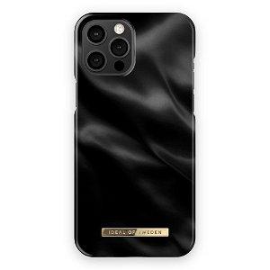 iDeal Of Sweden iPhone 12 Pro Max Fashion Bagside Case Black Satin