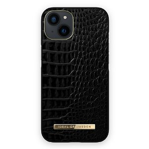 Ideal Of Sweden iPhone 13 Mini Fashion Case Atelier - Neo Noir Croco