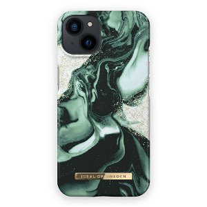 Ideal Of Sweden iPhone 13 Mini Fashion Cover Golden Olive Marble