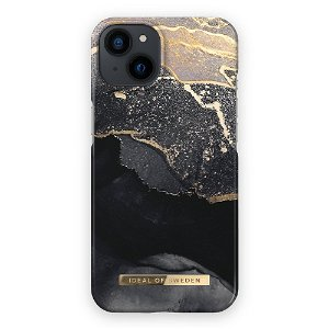 Ideal Of Sweden iPhone 13 Mini Fashion Case Golden Twilight Marble