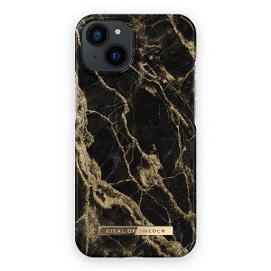 Ideal Of Sweden iPhone 13 Mini Fashion Cover  Golden Smoke Marble