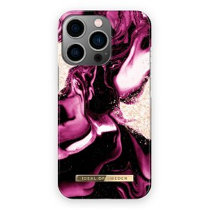 Ideal Of Sweden iPhone 13 Pro Max Fashion Cover Golden Ruby Marble