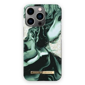 Ideal Of Sweden iPhone 13 Pro Fashion Cover Golden Olive Marble