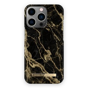 Ideal Of Sweden iPhone 13 Pro Fashion Case Golden Smoke Marble