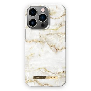 Ideal Of Sweden iPhone 13 Pro Max Fashion Cover Golden Pearl Marble
