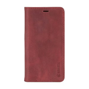 Krusell Sunne 4 Card Folio Wallet iPhone 8 Plus / 7 Plus Læder Flip Cover - Rød